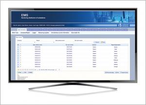 Monitoring distribution of substations EMS